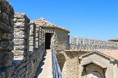 The Wall  Of Fortresses Guaita On Mount Titan. The Republic Of San Marino