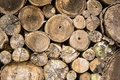 Abstract Stack Of Firewood Background