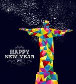 New Year 2015 Brazil Poster Design
