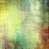 Old scratched retro-style background. With different color patterns: green; brown; yellow