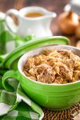 Braised cabbage with meat