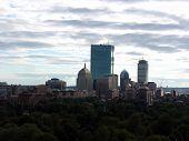 Boston Skyline on a Cloudy Day
