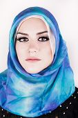 foto of hijabs  - Beautiful muslim woman wearing hijab - JPG