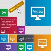 Play Video Sign Icon. Player Navigation Symbol. Set Of Colored Buttons. Vector