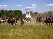 Two Worlds Meet At Battle Of The Little Bighorn Re-enactment
