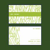 Vector abstract swirls texture horizontal stripe frame pattern business cards set