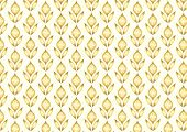 Gold Retro Flower And Leaves Pattern In Classic Style