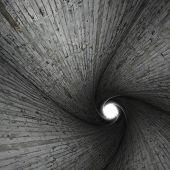 Spiral Concrete Tunnel