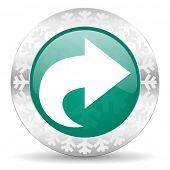next green icon, christmas button, arrow sign