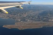 French Riviera And The Nice Airport From Height Of Flight Of The Plane.