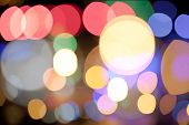 Abstract Circular Bokeh Background Of Citylight