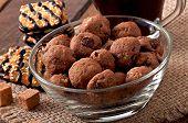 foto of baked raisin cookies  - Italian cookies Florentino with raisins and walnuts - JPG