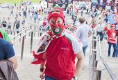 Minsk-Belarus, May, 20: Ice-hockey Fans In Minsk Having Fun Prior To International Ice Hockey Match