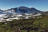 Active Volcano Of Kamchatka Peninsula: Mutnovsky Volcano