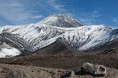 Active Avachinsky Volcano On Kamchatka Peninsula