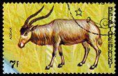 Vintage  Postage Stamp. Animals Burundi, Antelope Addax.
