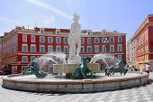 Red square in Nice called Place Masséna