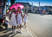 Schoolgirls In White Uniforms