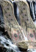Money In A Waterfall