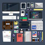 Flat Icon Vector Collection Concept
