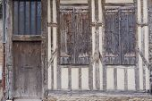 Door and shutter in a medieval building
