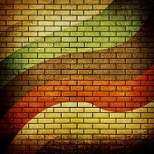 old brick wall with pattern