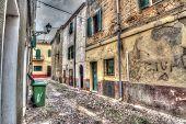 Narrow Street In Alghero Old Town
