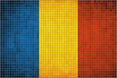 Mosaic flag of Romania