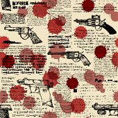 newspaper with the images of pistols