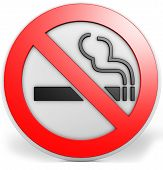 3D Badge With A No Smoking Sign