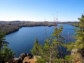 stock photo of caribou  - View of lake in the Boundary Waters Canoe Area from Caribou Rock - JPG