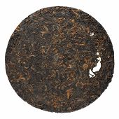 Ripe Puerh Cake Isolated