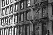 NYC apartment building 21bw