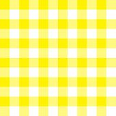 Bold two-toned yellow and white checkered seamless background pattern