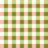 Watermelon shades of green, pink and white in seamless checkered background pattern
