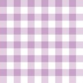 Lilac and white checkered seamless background pattern