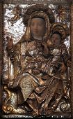 KOTOR, MONTENEGRO - JUNE 10, 2012: Madonna with Child, Church of St Mary in Kotor, Montenegro, on June 10, 2012