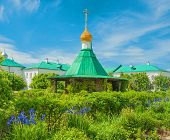 stock photo of chapels  - Chapel of the holy source in the monastery in Rostov Veliky - JPG