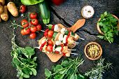 picture of gourmet food  - BBQ barbecue ingredients - JPG