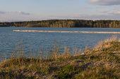 pic of bavaria  - the lake Klausensee next to Schwandorf in Bavaria in spring - JPG