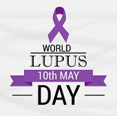 pic of lupus  - illustration of stylish text for World Lupus Day - JPG