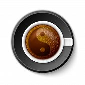 stock photo of yang  - Coffee Cup with Yin - JPG