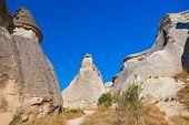 stock photo of phallic  - Rock formations in Cappadocia Turkey  - JPG