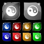 picture of ying yang  - Ying yang icon sign - JPG