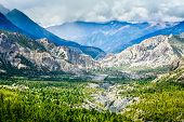picture of landscapes beautiful  - Beautiful landscape in Himalayas mountains - JPG