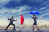 image of disrespect  - Business people fighting  - JPG