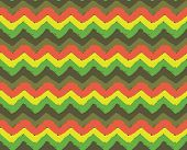 image of zigzag  - Rasta vector zigzag seamless pattern - JPG