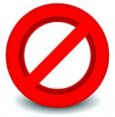 foto of no entry  - Red prohibition restriction  - JPG
