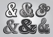 pic of ampersand  - vector set of stylish ampersands from different font - JPG