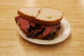 pic of deli  - Famous Pastrami on rye sandwich served in New York Deli - JPG
